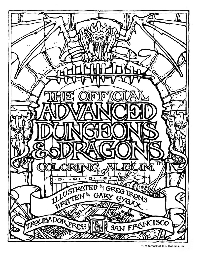 Dungeons & Dragons Colouring Book