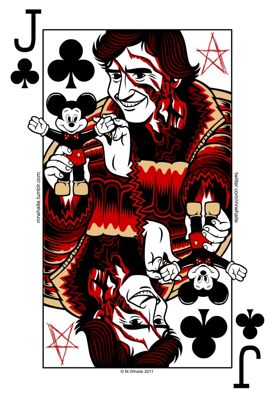 mrwhaite :     Another Jack for my pack of movie themed playing cards -'walking meat loaf' Jack from An American Werewolf in London.   I didn't mean to call you a meat loaf, Jack.