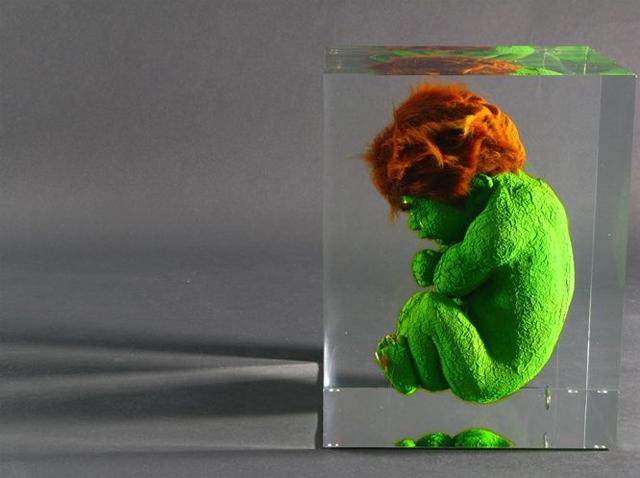laughingsquid :      Superhero Fetus Sculptures by Alexandre Nicolas      #ART