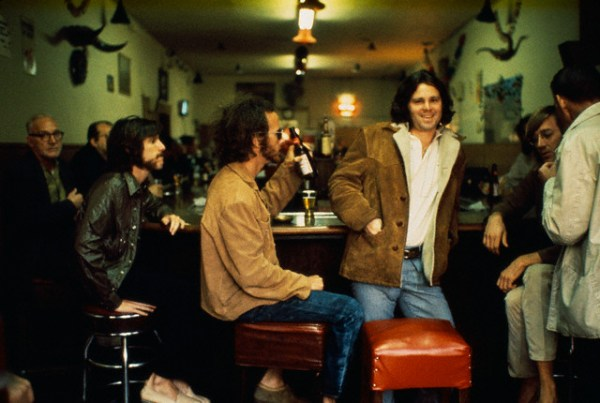 theswingingsixties :     The Doors drinking with locals at the Hard Rock Cafe, Los Angeles, December 1969. Photo by Henry Diltz.