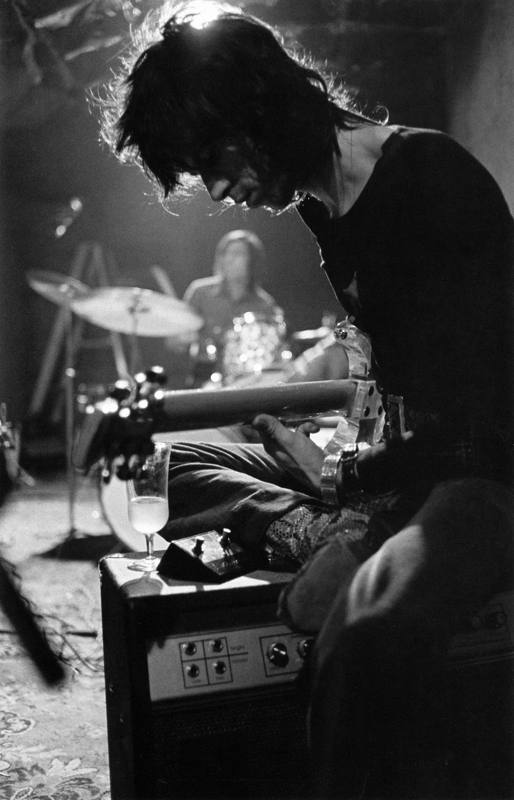 nickdrake :     Keith Richards in rehearsal, September 1969. In the basement of Stephen Stills' home
