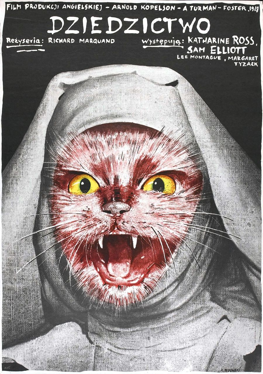 2headedsnake :      frankzumbach.wordpress.com         Polish poster for Katharine Ross'  The Legacy  (1978)