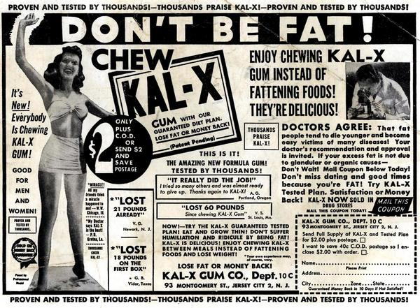 comicallyvintage :     DON'T BE FAT!