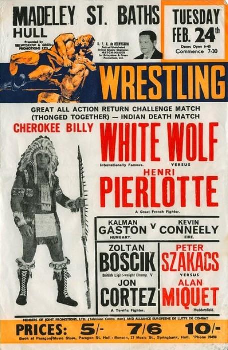 Vintage Wrasslin' Posters