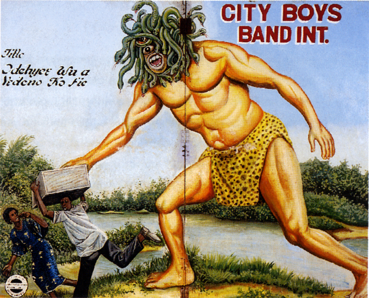 Hollywood Icons, Local Demons - Ghanaian Popular Paintings by Mark Anthony