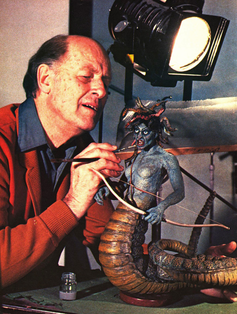 heyoscarwilde :     Happy 91st Birthday Ray Harryhausen.   scanned from Cinefantastique Magazine :: Frederick S. Clark  :: 1982
