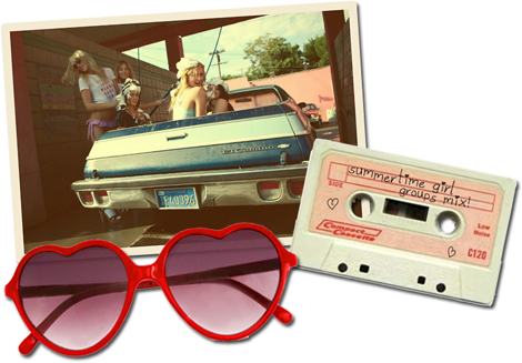 livefastdie :      mycartoonheart :      summertime girl groups mix tape  from CARTOON HEART  (via Mediafire, sort songs by date to get them in the below order)   1. Lookin' For Boys – The Pinups  2. He Was Really Sayin' Somethin' – The Velvelettes  3. Boys – The Shirelles  4. Dream Boy – Jackie DeShannon  5. She Don't Deserve You – The Honey Bees  6. I'm Gonna Destroy That Boy – The What Four  7. Steady Boyfriend – April Young  8. Needle in a Haystack – The Velvelettes  9. I Have A Boyfriend – The Chiffons  10. Funnel Of Love – Wanda Jackson  11. Don't Ever Leave Me – Connie Francis  12. Sophisticated Boom Boom – The Goodies  13. Egyptian Shumba – The Tammys     Am I allowed to download this?
