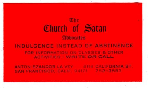 nickdrake :     Church of Satan.