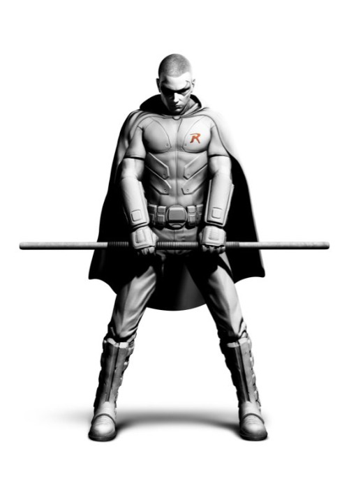 #nerd    gothamspoilers :     Here is the full version of the Tim Drake concept art from Arkham City