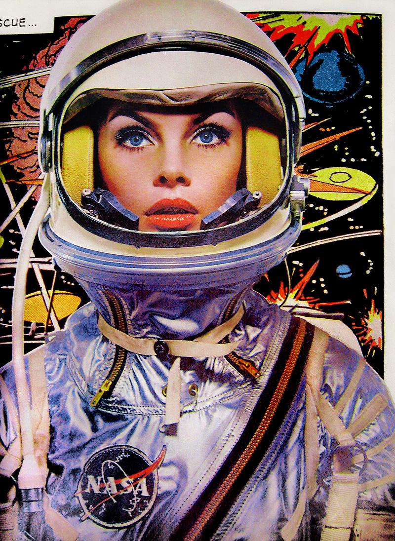 theswingingsixties :     Jean Shrimpton, astronaut.