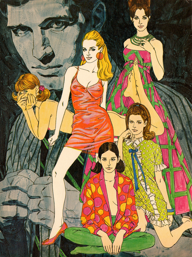 theswingingsixties :     1967 fashion illustrations.