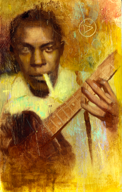 """spokeart :     Rod Luff – """"Crossroads"""" (Robert Johnson) 8.25″ x 11.25″ (framed) Oils and pastel on paper SOLD View all remaining available works here:      http://rodluffpreview.wordpres   s.com/"""