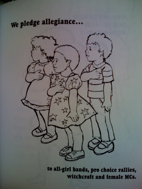 """thureris :     From """"Girls Are Not Chicks; a coloring book""""."""