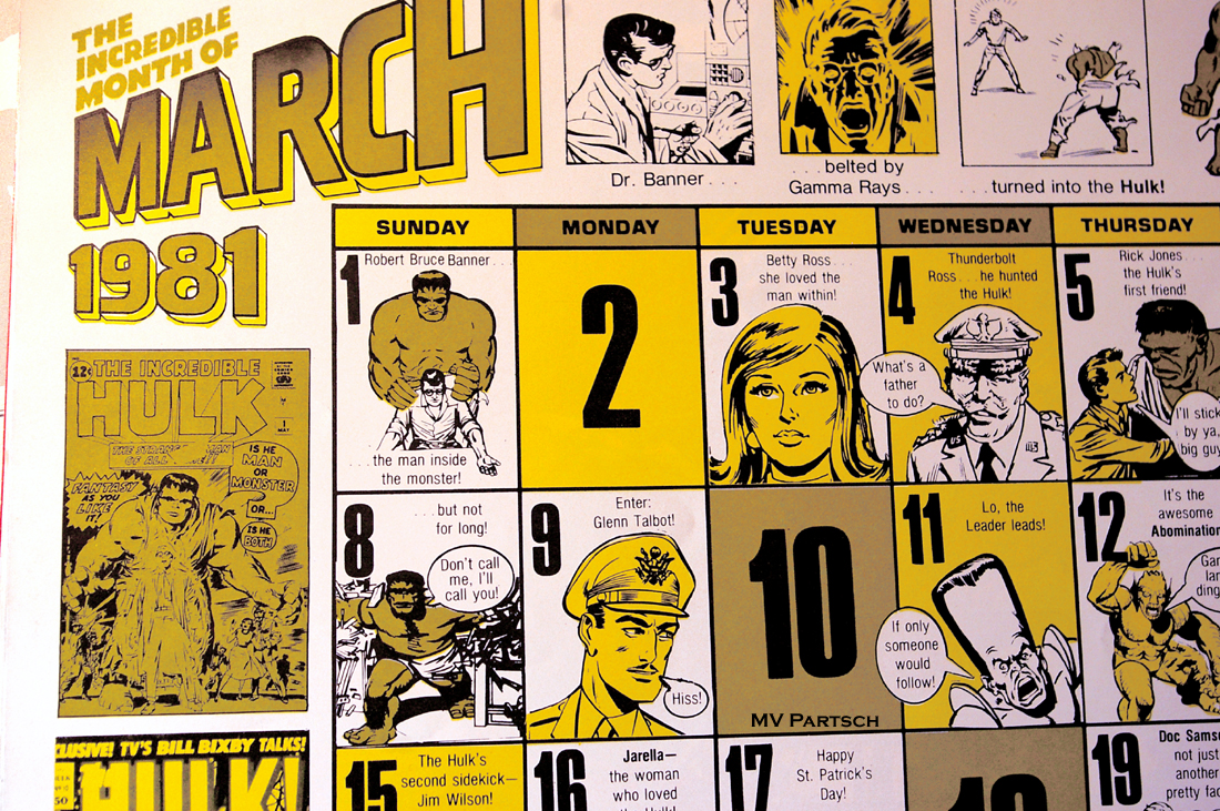 americancomicon :      March: 1981.     Marvel Comics' 20th Anniversary Calendar 1981. $4.95. Designed by Jim Salicrup. Written by Roger Stern.      From the Personal Collection of American Comicon. Torrance: 1980/Orlando: 2011.