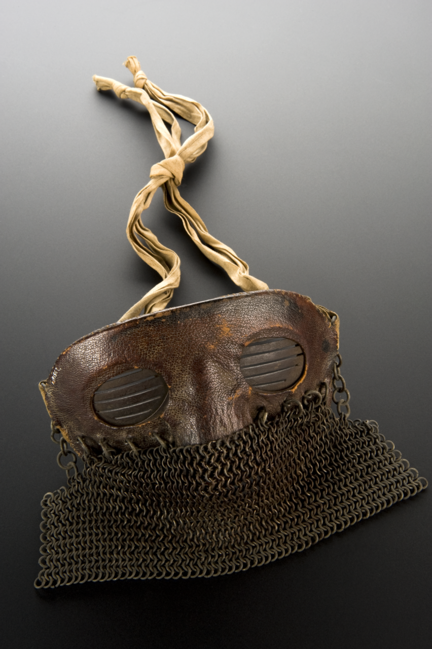 Protective face mask, UK, 1917-1918