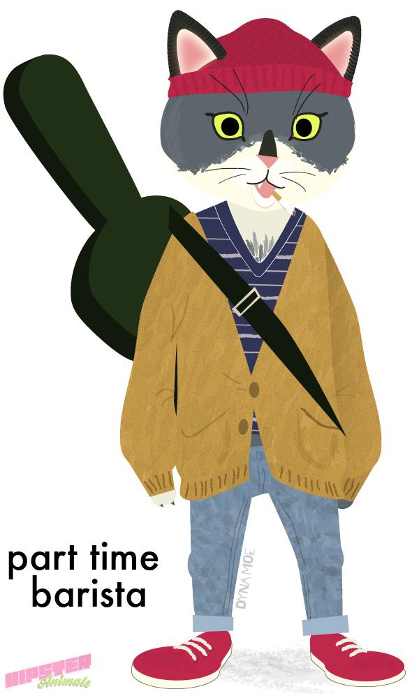 hipster-animals :     part time barista