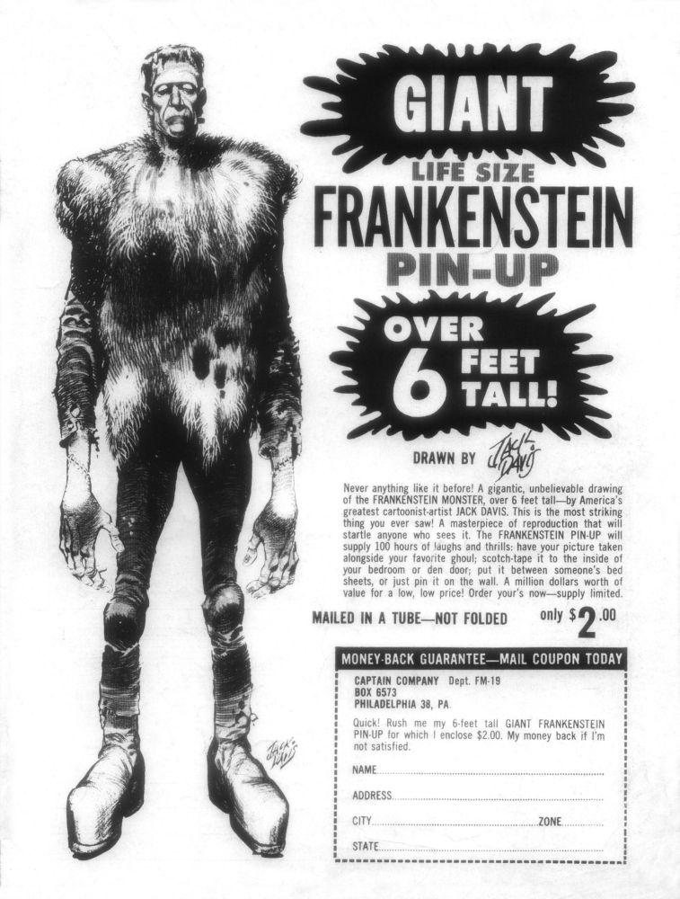 rcmerchant :     Jack Davis Frankenstein. I bought this poster back in 1973. Long gone now.