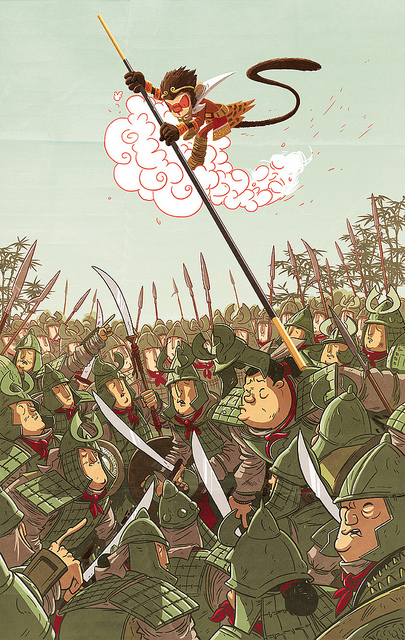 sdfraser :      King Monkey vs The Jade Imperial Army (final)  by  douglasbot  on Flickr.   YES!