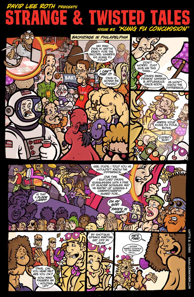 Folio: David Lee Roth Online Web Comic (2003)