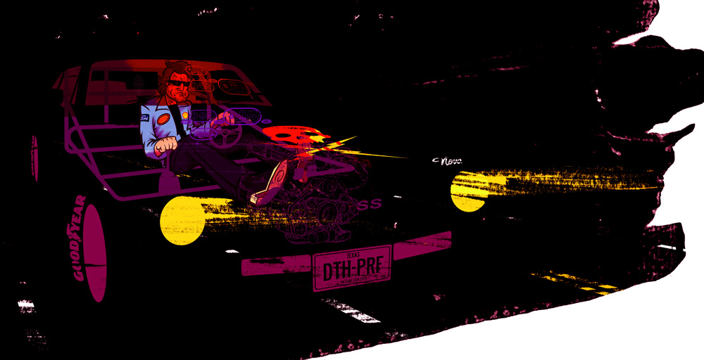 Folio: Deathproof   Exhumation from Archives inspired by  Spokeart's Quentin vs. Coen art show!