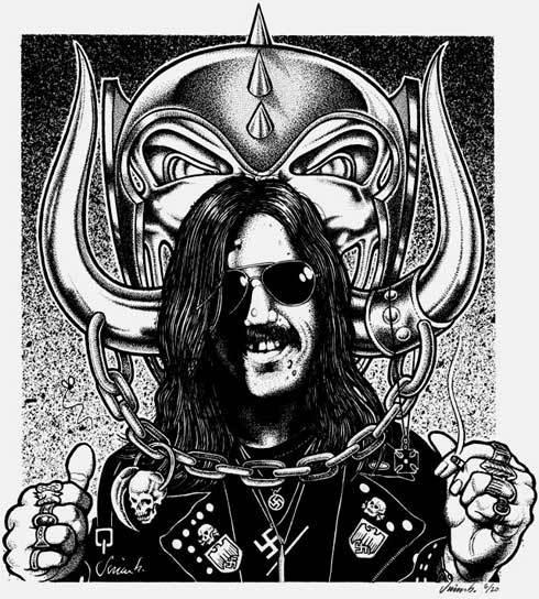Jim Blanchard's 'Lemmy'   Via  www.jimblanchard.com