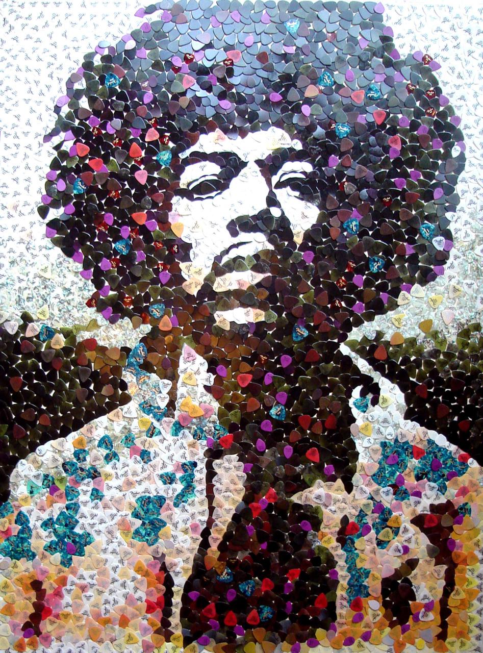 Hendrix mosaic, by Ed Chapman.   Viahttp://bit.ly/h88hEi