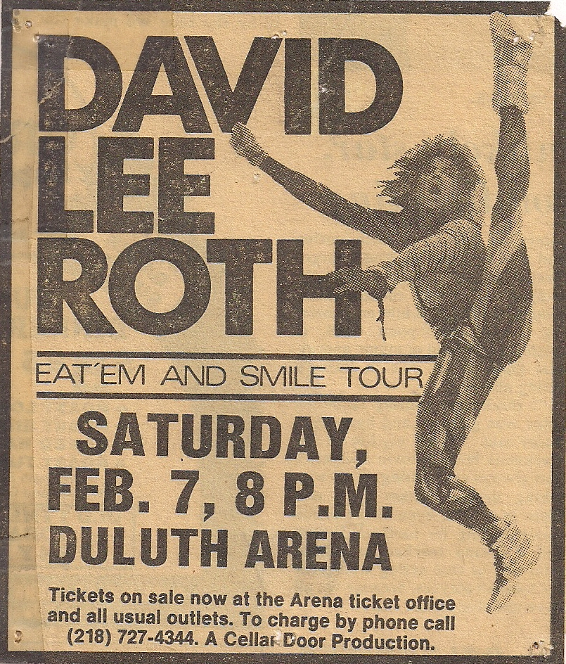 David Lee Roth- Eat 'Em & Smile Tour.   Viahttp://www.flickr.com/photos/nycdreamin/with/4303960392/