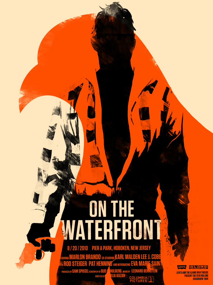 Olly Moss' 'On The Waterfront'.   Via http://bit.ly/efP8ol