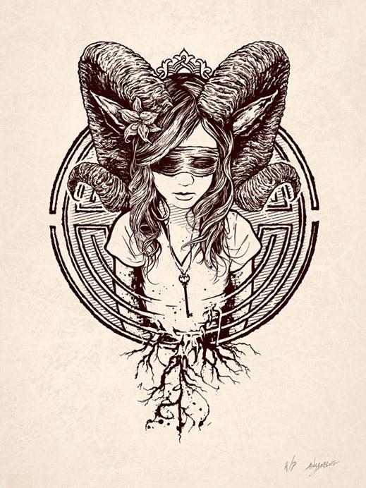 Faun.   Via  www.angryblue.com