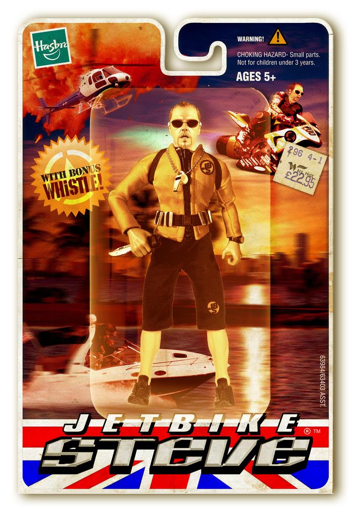 Folio: Jet Bike Steve Action Figure   Inspired by Simon Pegg's iconic action hero creation, as detailed HERE:    www.twitter.com/simonpegg