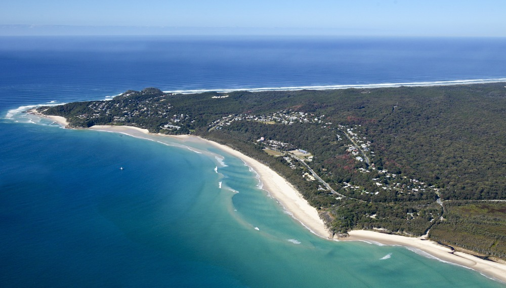 An aerial view of Point Lookout.