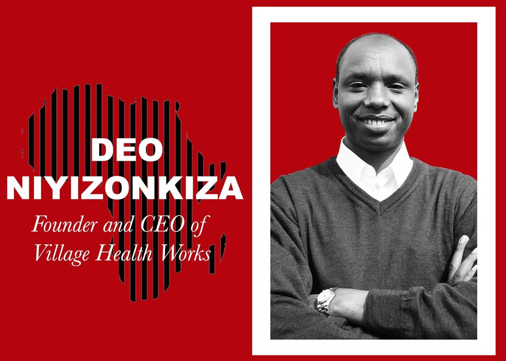 """Deo Niyizonkiza    """"We take good health for granted, even in a place, like Burundi, where health indicators are abysmal. It's very hard – even unimaginable – to think about how a mother who is pregnant and who is carrying a heavy load on her head and on her back can be fully productive."""" This is Deo Niyizonkiza's message: """"where there is health, there is hope"""".   Having escaped war in Burundi, having escaped homelessness in America, Deo Niyizonkiza graduated from Columbia University with a bachelor's degree in biochemistry and philosophy and later continued his studies at the Harvard School of Public Health and Dartmouth Medical School. He is an inspiration, providing holistic clinical treatment and prevention services at the Village Health Works' Sharon McKenna Community Health Center. Now he works at the Village Health Works' clinic and their developmental model has grown to include educational activities, agricultural and environmental protection programmes and income-generating cooperatives.                              Photo by : Alex Massek - Ampersand Media"""