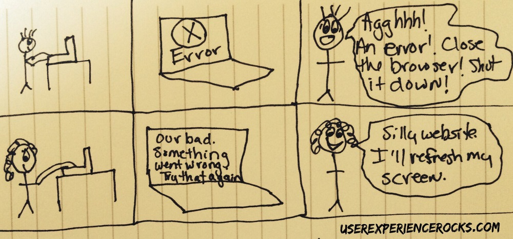 UX and Error Messages: Stop Scaring Your Users by Jennifer Aldrich @ Userexperiencesrocks.com