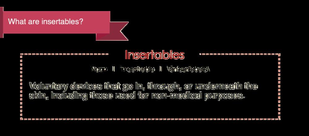 Define: Insertables