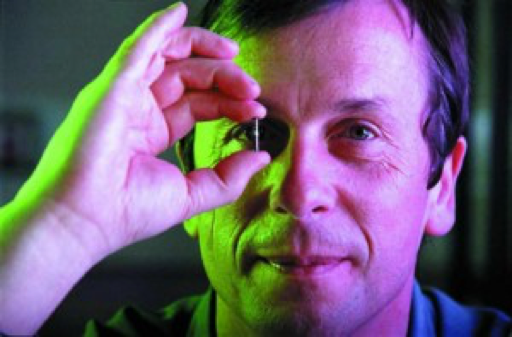 Professor Kevin Warwick with his RFID Chip