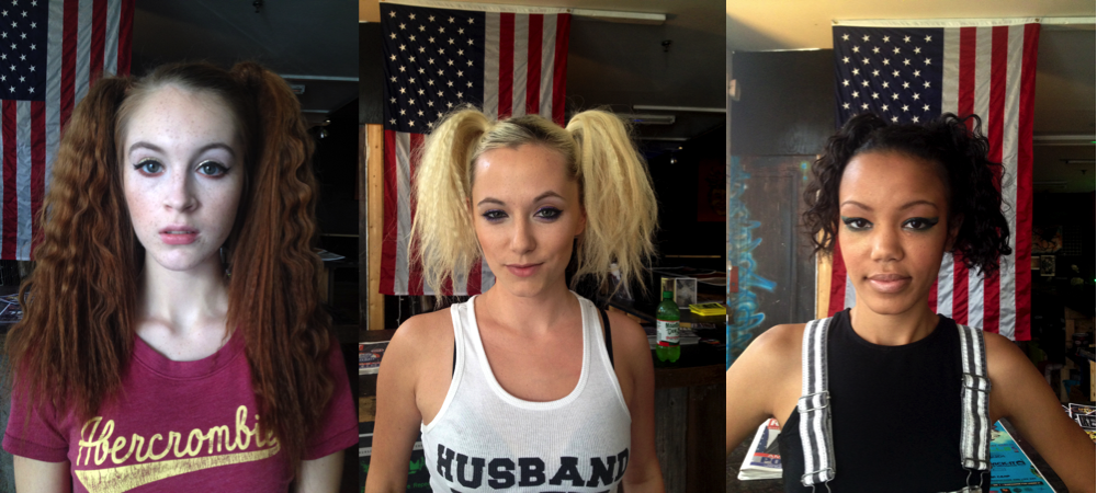 models L to R: Danielle Boker, Kara Friedman, Armanda Rahmoeller