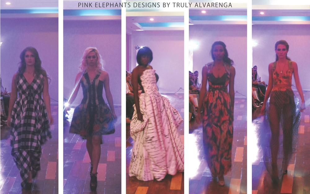 Pink Elephants: Alverenga had the most looks in her collection. Her collection stood out from the completion because she designed outside of the box. She played with interesting silhouettes and fabric choices while still keeping her  aesthetic identifiable and cohesive.