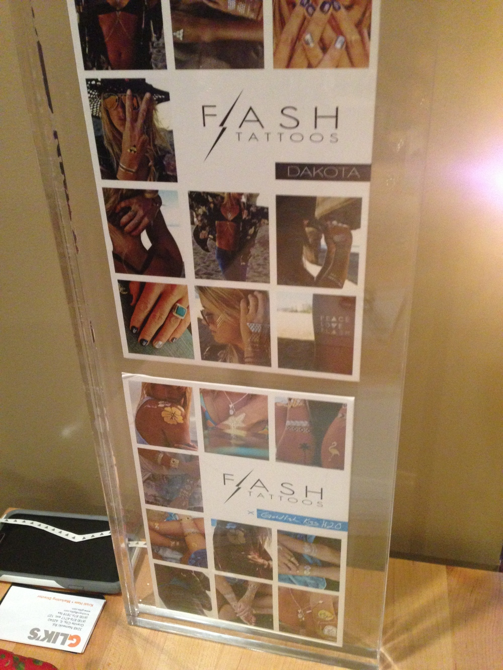 Turns out they are called Flash Tattoos and you can get them at Glik's!