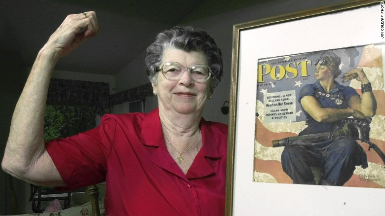 from CNN.com: Mary poses with her iconic Rockwell cover in 2002
