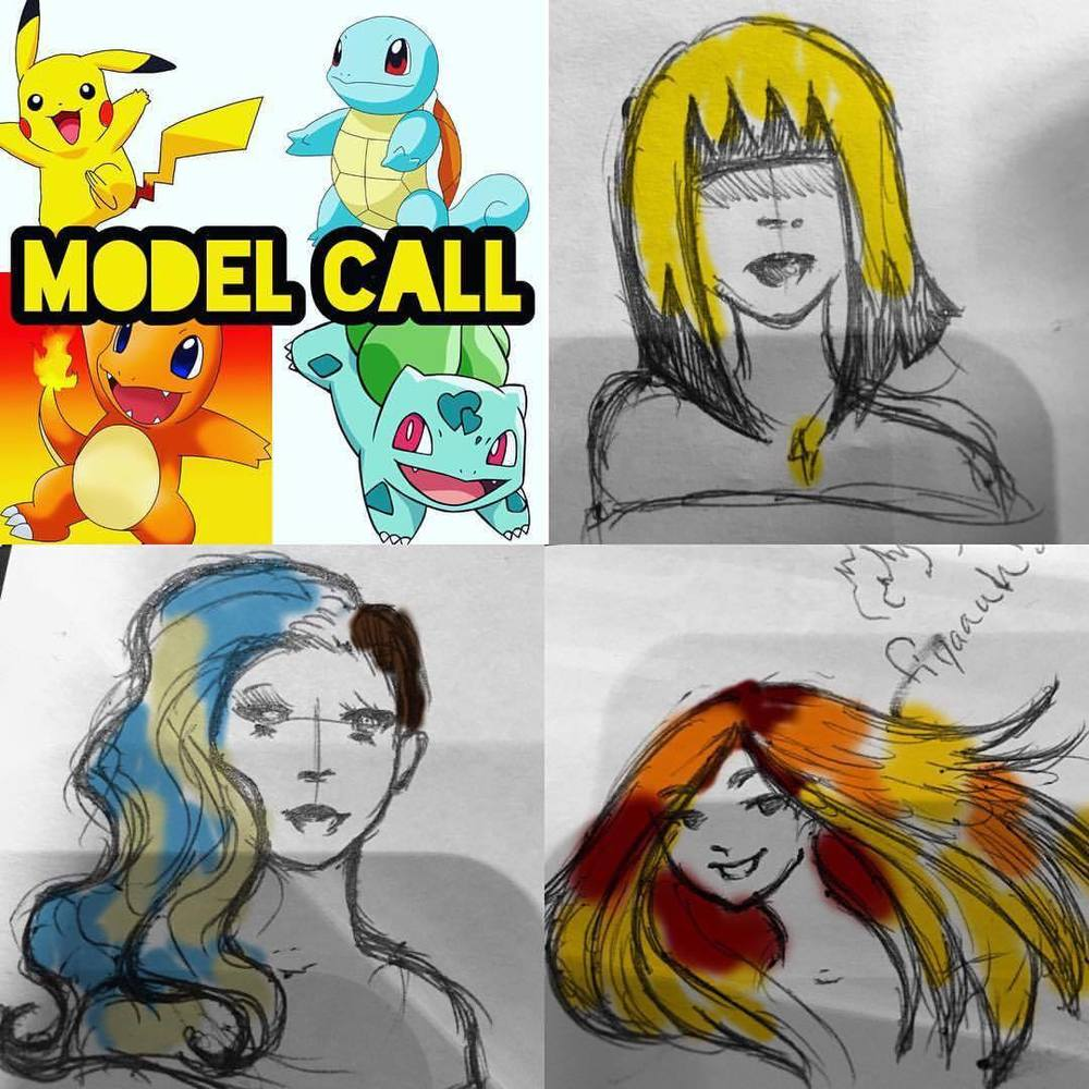 even local hair guru, Caitlin Ford (@caitlinfordhair) from Notch STL, has caught the pokemon bug going around and you can constantly catch her posting little updates on social media and she even just did a model call for pokemon-inspired hair colors...