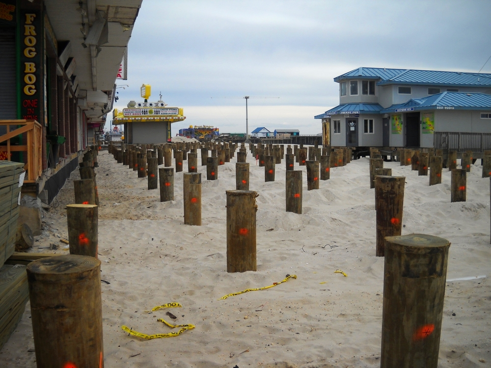Driven pile foundations specializing in helical piles for Wood piling foundation