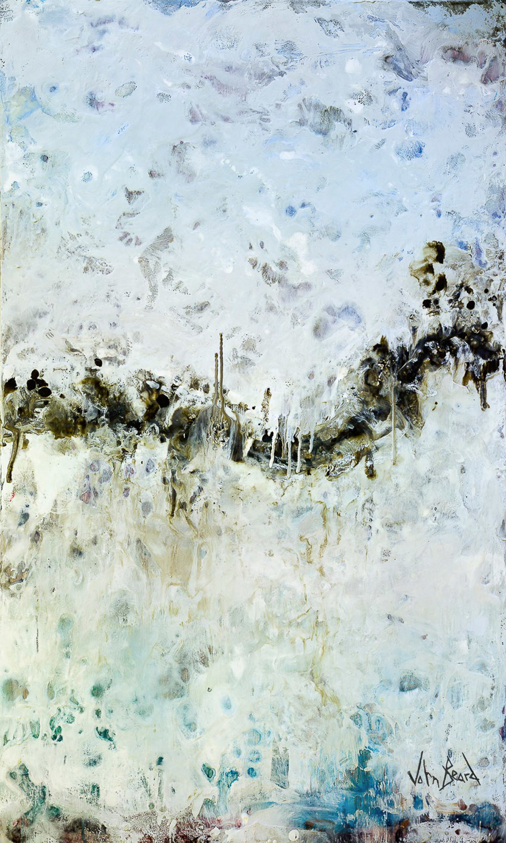 Horizon I by John Beard, 24x40 Encaustic