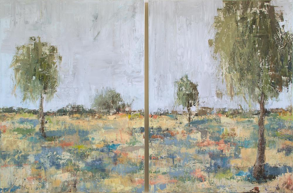 "Spring Time I & II by John Beard, 30""x40"" each"