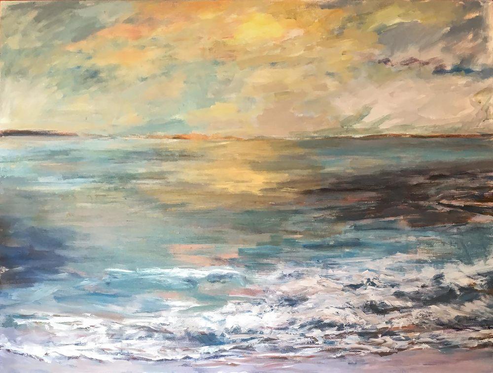Dana Point Sunset by John Beard, 48x36