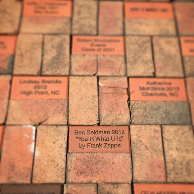 Best brick on campus @brevardcollege #zappa #GOAT
