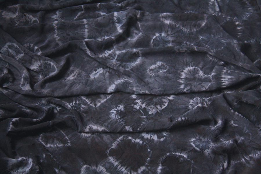 Silk dyed with logwood