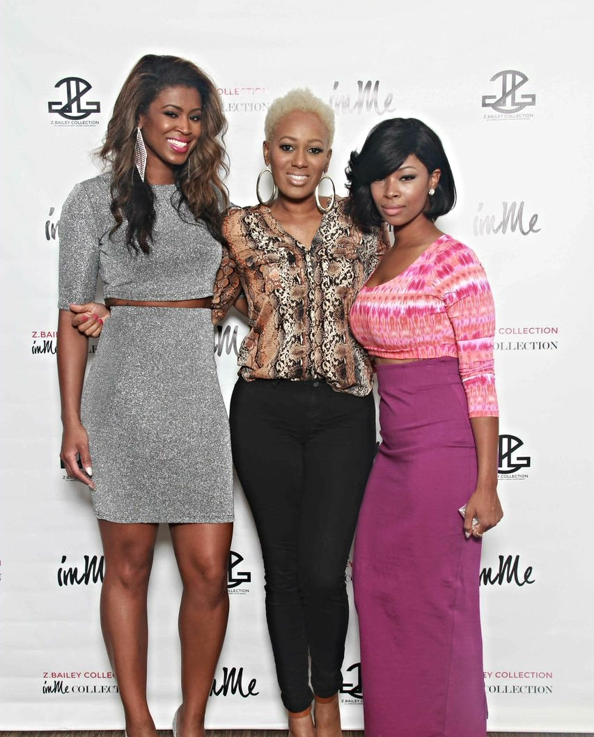 "Left to right - Jenna Bailey (The Creative Director of www.immcollection.com IG: @immecollection, China (reality show star from WE Tv's ""LA HAIR"" www.chinaupshaw.com IG: @chinaupshaw, and ME Zaneta Bailey (Founder and Designer for Z.Bailey Collection IG: @zbaileycollection"
