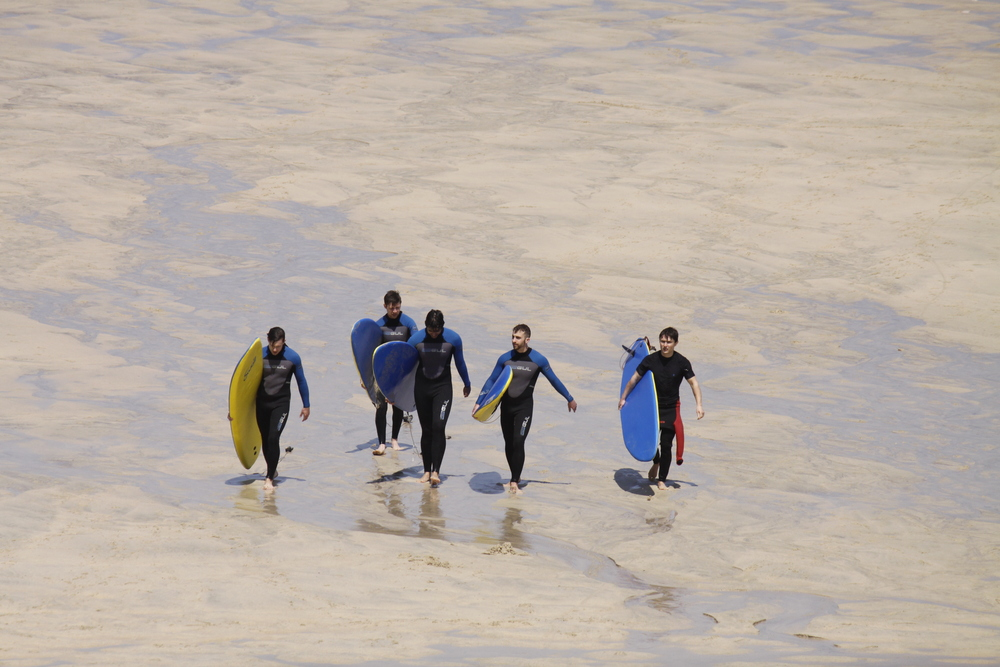 Surfers in St Ives
