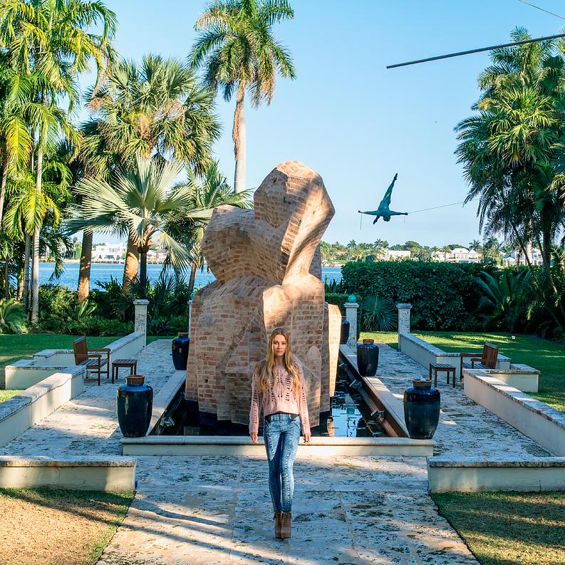 Ann Norton Sculpture Gardens Bahamas Girl
