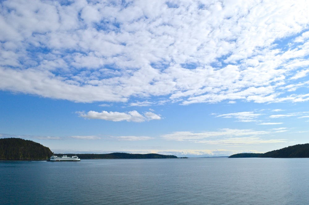 A view from the ferry heading to Orcas Island
